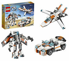 LEGO Creator Future Flyers Set Making Futuristic Robot Jet Sports Car Kids Toy