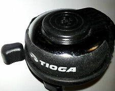Traditional YWS Ding Dong Bicycle Bell. Black Fully enclosed Rings both strokes