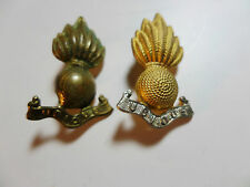 2 x Royal Artillery Collar Badges - Pair GB Army Military