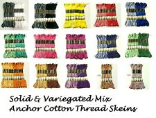 Anchor Solid & Variegated Cotton Embroidery thread skeins / Floss Assorted color