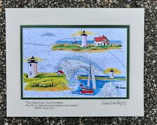 PROVINCETOWN LIGHTHOUSE ART PRINT Ptown Cape Cod Longs Race Point Woods Gift MA