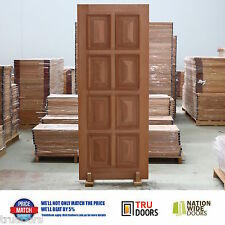 8 Panel Traditional French Solid Timber Doors Heavy Moulding Cricket Bat Luxury