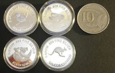 2012 SET of 4 x 5 gram 999 Pure Silver Bullion Coins (Australian Animal Series)