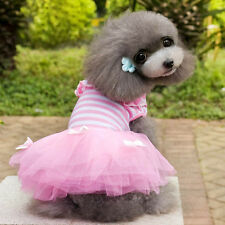 Small Dog Puppy Pet Dog Dress Lace Skirt Cat Princess Dress Clothes Clothing