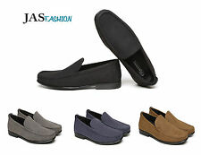 Mens Casual Slip On Loafers Leather Driving Shoes Work Office Moccasin Size UK