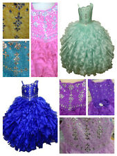 New Glitz Pageant National Girl Party Dress Ruffled/Princess  Sizes 4-16 SALE!!