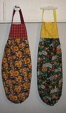 Sunflowers Crows Garden Plastic Grocery Bag Rag Sock Holder Organizer HCF&D