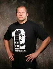 New! Fedor Emelianenko Nobody Beats Me Shirt - Black White Red - Pride, UFC, MMA