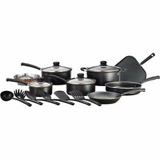 Mainstays 18 Piece Nonstick Cookware Set Pots And Pans Kitchenware Cooking NEW