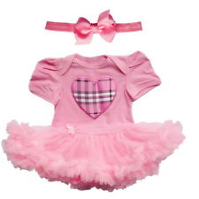 Toddler Baby Newborn Romper Cotton Infant Clothes Dress Girls Party Outfits Tutu