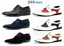 Mens Smart Formal Wedding Lace Up Shoes Casual Office Suede Work Brogues Size