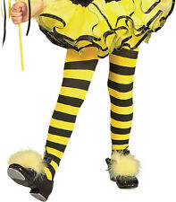 Toddler/Small Toddler and Child Yellow and Black Striped Tights - Stockings and