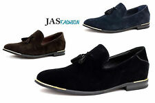 Mens Leather Lined Slip On Suede Loafers Driving Shoes Tassel Design UK 6 to 11