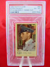 "1962 Dutch Gum Elvis Presley ""Star Bilder C"" Hand-Cut #64 PSA 6 EX-MT Rare Pop 1"