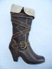 BROWN GIRLS BOOT SHOES YOUTH SIZE 9