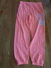 "VICTORIAS SECRET PINK ""PINK"" ""1986"" OVERSIZE POCKET SWEATPANTS NWT"