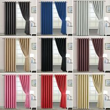 Origional Blackout Ring Top Thermal Curtain Pair Eyelet Ready Made Lined Curtain