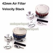 Racing 42mm Air Filter V Stack For Go Ped G2D G23LH 23cc Big Foot Scooter Moped