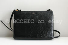 celine black patent leather handbag trio