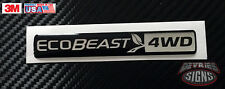 Domed FORD ECOBEAST emblem overlays ecoboost eco boost turbo ESCAPE EXPLORER 4WD