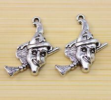 15/30/100 pcs Very lovely Tibet silver  clown charm pendant 29x26 mm