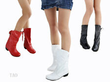 New Women's Fashion Back Lace Up Mid Calf Boots Low Heel Shoes AU All Size TB804