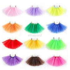 Lovely 2-7Y Kids Girls 3 Layer Tutu Ballet Dance Dress Skirt Pettiskirt Costume