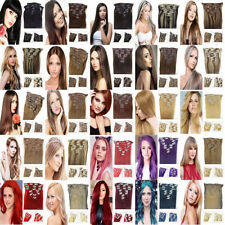 "15""18""20""22""24""26""28""7PCS Clip In Remy Human Hair Extensions 70/80/90/100/120g"