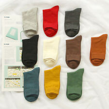 3 PRS Hi Quality Mens Cotton Solid Fresh Color Fashion Dress Plain Socks SZ 9-11