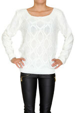 Women Ladies Long Sleeve Scoop Neck Soft Winter Jumper Pullover Size 8 10 12 14