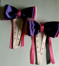 SHOW HAIR BOWS LEAD REIN DRESSAGE FIRST RIDDEN HORSE PONY BOBBLE ALL COLOURS