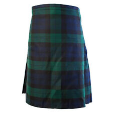 Scottish Men Black Watch Kilt Tartan Highland Utility Kilt Handmade 8 yard