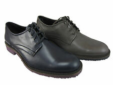 Kenneth Cole Mens A Bit More Navy Or Grey Plain Toe Casual Lace-Up Fashion Shoes