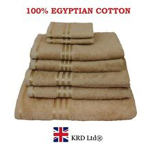 Genuine 100% Egyptian Cotton Face Cloth Guest Hand Towel Bath Sheet Towels BROWN