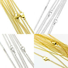 "Lots 30/50/100/500/1000pcs Silver/Gold plated chain finding With Clasp 22"",2mm"