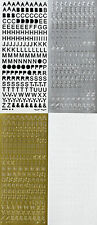 "8MM UPPERCASE ALPHABET Type 1 ""& . SYMBOLS"" CAPITAL LETTERS PEEL OFF STICKERS"