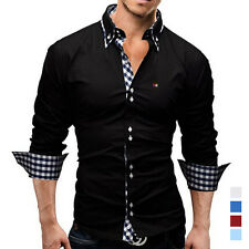 HOT Sexy New Men Casual Grid High Quality Shirt Business Silm fit Shirts Fashion