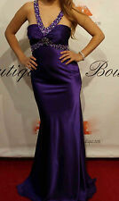 JASZ COUTURE 4313 Purple Beaded Formal Prom Pageant Gown Sizes 4-16 AUTHENTIC