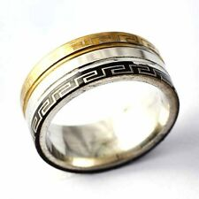 Gold Filled/stainless steel weeding ring Unisex class Ring Size 7-11