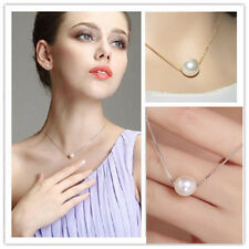 Gorgeous Single Pearls Necklace For Delicate Women Bib Choker Statement