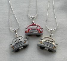 Handmade Unusual Novelty Fimo Clay ~ Mini Car Pendant Charm Chain Necklace