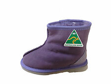 Australian Made Genuine Sheepskin Kids Mini Ankle UGG Boots Purple Colour