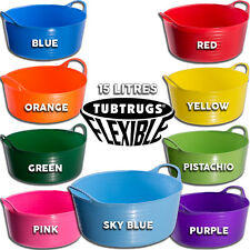 15L GENUINE TUBTRUG FLEXIBLE SMALL SHALLOW HORSE FEEDING BUCKET VARIOUS COLOURS