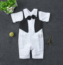 Baby Boy Wedding Christening White Formal Suits Outfits Clothes NEWBORN 0-24M