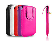 Pull Tab PU Leather Sleeve Pouch Wallet Case Cover For Samsung Galaxy Phones