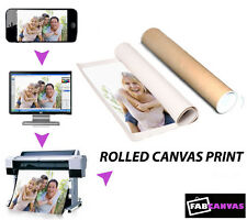 My/Your Image/Photo Printed Picture to a Rolled Canvas Different Sizes