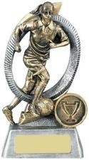 Orbis Football Female Player Antique Gold Various Sizes Available , Own Centrepi