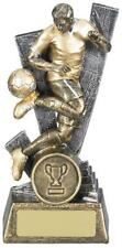 Trident Football Male Trophy Antique Gold Various Sizes Available , Own Centrepi