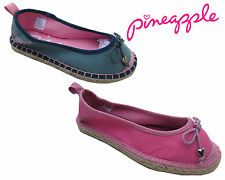 Girls Summer Flat Slip On Espadrille Kids Pumps Canvas Plimsoles Shoes Size 13-5