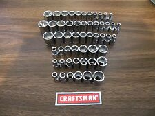 """New... Craftsman 1/4"""" Shallow Socket Sets SAE or/and Metric - YOUR CHOICE"""